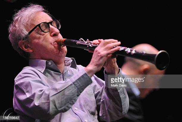 Actor and musician Woody Allen performs with his New Orleans Jazz Band at Royce Hall UCLA on December 29 2011 in Westwood California