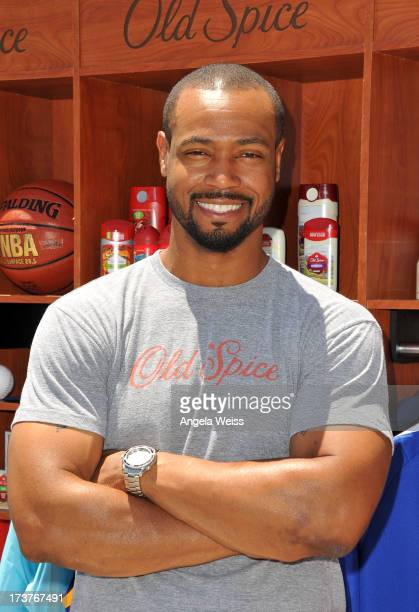 Actor and 'Old Spice' guy Isaiah Mustafa kicks off the 2013 ESPY Awards at LA LIVE on July 17 2013 in Los Angeles California