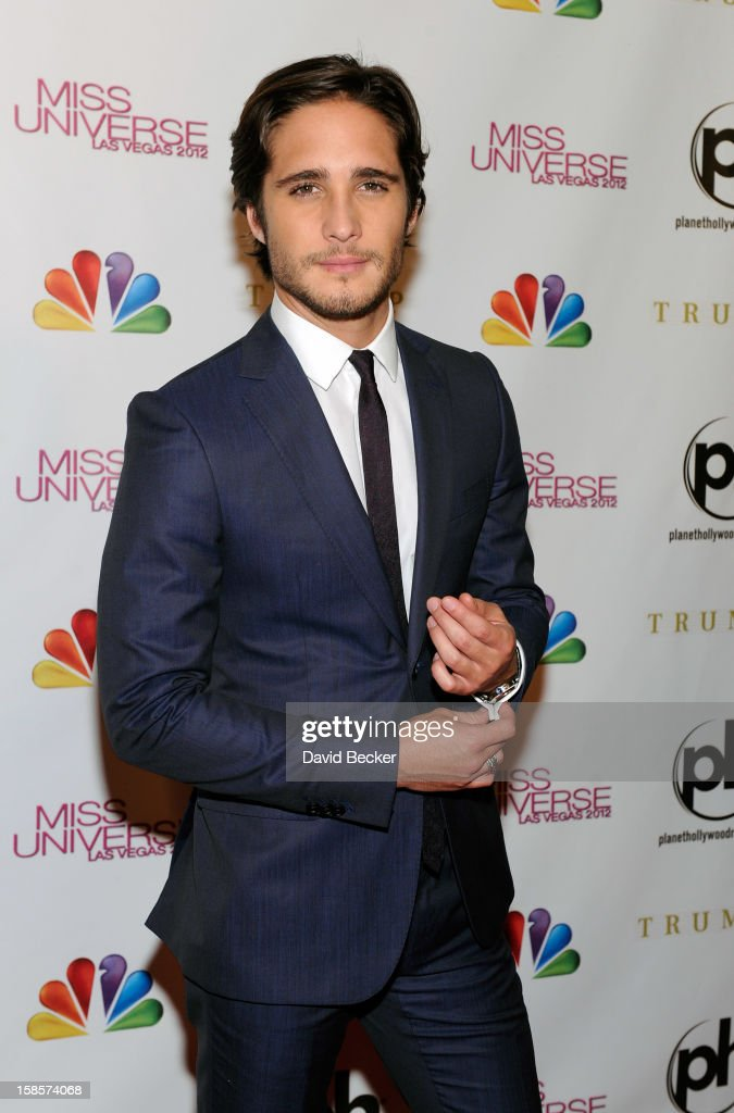 Actor and pageant judge Diego Boneta arrives at the 2012 Miss Universe Pageant at Planet Hollywood Resort & Casino on December 19, 2012 in Las Vegas, Nevada.