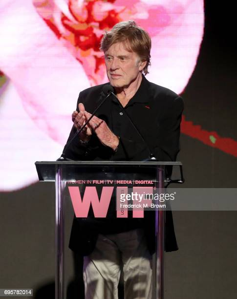 Actor and presenter Robert Redford speaks onstage at Women In Film 2017 Crystal Lucy Awards presented By Max Mara and BMW at The Beverly Hilton Hotel...