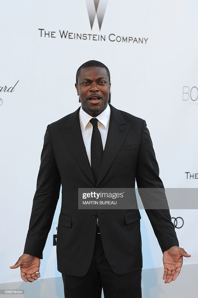 US actor and producer Chris Tucker poses while arriving at amfAR's Cinema Against Aids 2010 benefit gala on May 20, 2010 in Antibes, southeastern France.