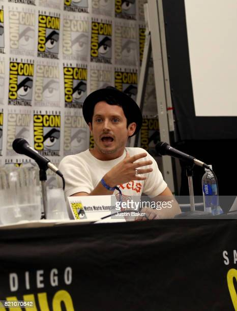 Actor and Producer Elijah Wood attends the Bold Voice of Contemporary Horror Panel at the 2017 ComicCon International on July 22 2017 in San Diego...
