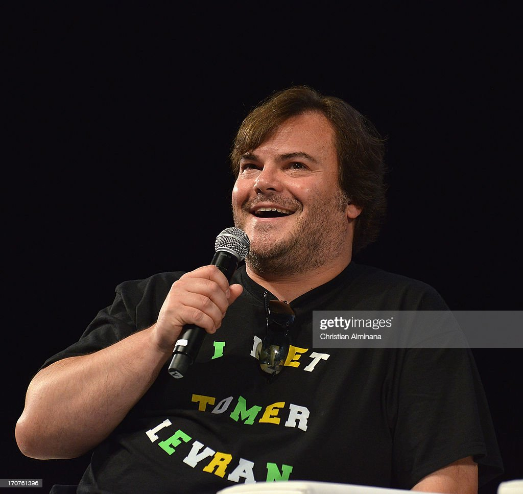 US actor and producer Jack Black attends the Yahoo Seminar as part of the 60th Cannes Lions International Festival of Creativity at Palais des Festivals on June 17, 2013 in Cannes, France.