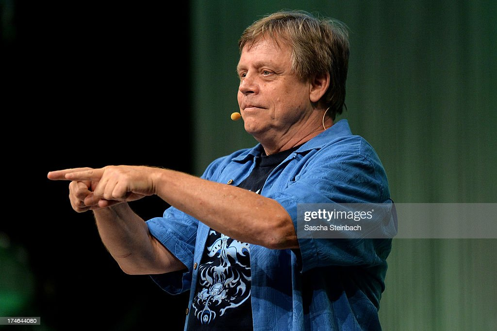 Actor and producer <a gi-track='captionPersonalityLinkClicked' href=/galleries/search?phrase=Mark+Hamill&family=editorial&specificpeople=206396 ng-click='$event.stopPropagation()'>Mark Hamill</a>, best known for his performance as Luke Skywalker in the original Star Wars trilogy, attends the Star Wars Celebration at Messe Essen on July 28, 2013 in Essen, Germany.