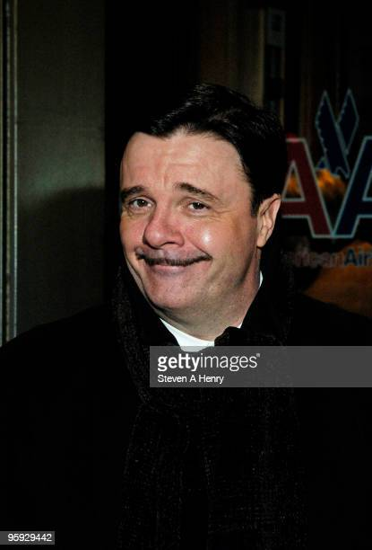 Actor and producer Nathan Lane attends the opening night of 'Present Laughter' on Broadway at the American Airlines Theatre on January 21 2010 in New...