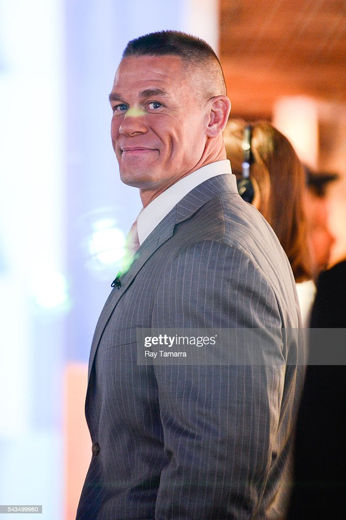 Actor and professional wrestler John Cena enters the 'Good Morning America' taping at the ABC Times Square Studios on June 28 2016 in New York City