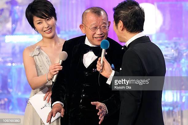 Actor and Rakugo performer Tsurube Shofukutei attends the 34th Japan Academy Awards at Grand Prince Hotel New Takanawa on February 18 2011 in Tokyo...