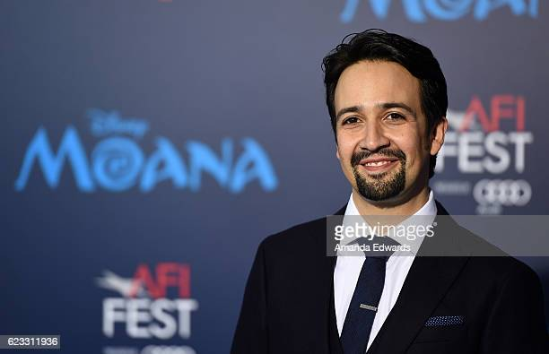 Actor and rapper LinManuel Miranda arrives at the AFI FEST 2016 Presented By Audi premiere of Disney's 'Moana' at the El Capitan Theatre on November...