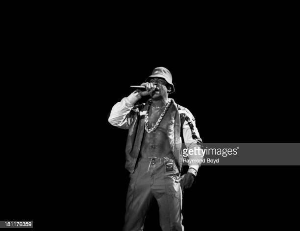 Actor and rapper LL Cool J performs at the UIC Pavilion in Chicago Illinois in DECEMBER 1987