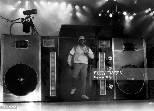 Actor and rapper LL Cool J performs at the UIC Pavilion in Chicago Illinois in JANUARY 1990