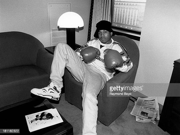 Actor and rapper LL Cool J poses for photos at LeMeridien Hotel in Chicago Illinois in OCTOBER 1990