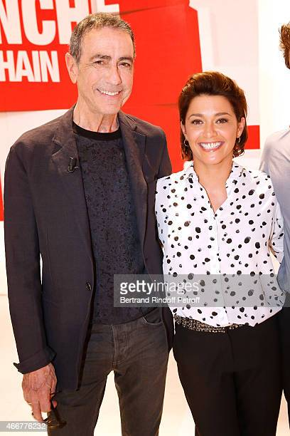 Actor and singer Alain Chamfort and Actress Emma de Caunes present the movie 'Les chateaux de sable' during the 'Vivement Dimanche' French TV Show at...