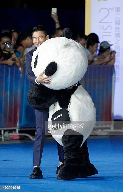 Actor and singer Andy Lau attends the 2nd Silk Road International Film Festival at Haixia Olympic Center Stadium on September 26 2015 in Fuzhou...