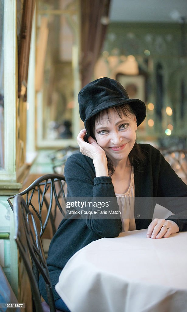 Actor and singer <a gi-track='captionPersonalityLinkClicked' href=/galleries/search?phrase=Anna+Karina&family=editorial&specificpeople=746277 ng-click='$event.stopPropagation()'>Anna Karina</a> is photographed for Paris Match on December 15, 2013 in Paris, France.