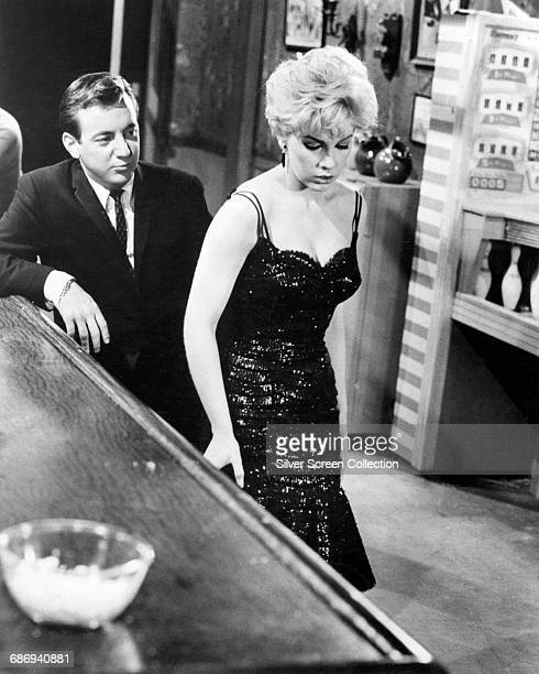 Actor and singer Bobby Darin as John 'Ghost' Wakefield and Stella Stevens as Jess Polanski in the film 'Too Late Blues' directed by John Cassavetes...