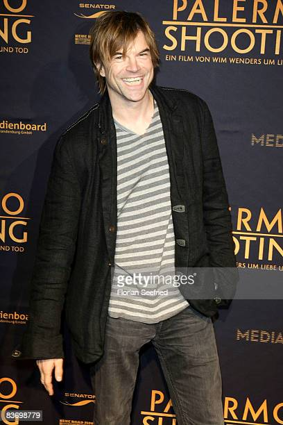 Actor and singer Campino attends the premiere of 'Palermo Shooting' at cinema Kulturbrauerei on November 14 2008 in Berlin Germany