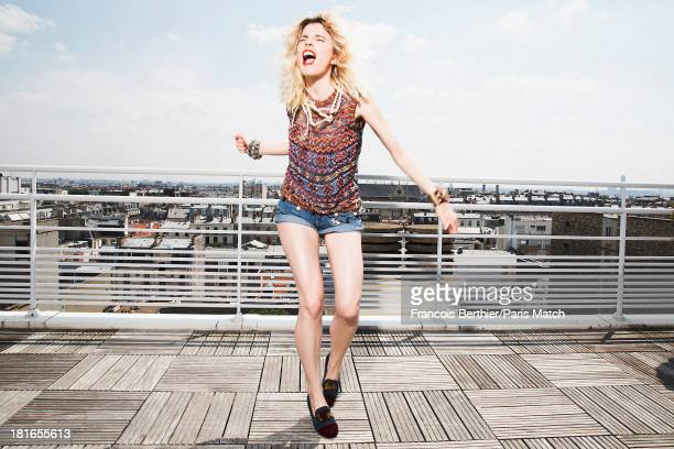 Actor and singer Cecile Cassel aka HollySiz is photographed for Paris Match on July 9 2013 in Paris France