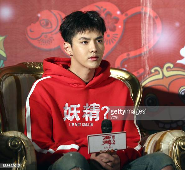 Actor and singer Chris Wu promotes film 'Journey to the West the Demons Strike Back' on February 3 2017 in Chongqing China