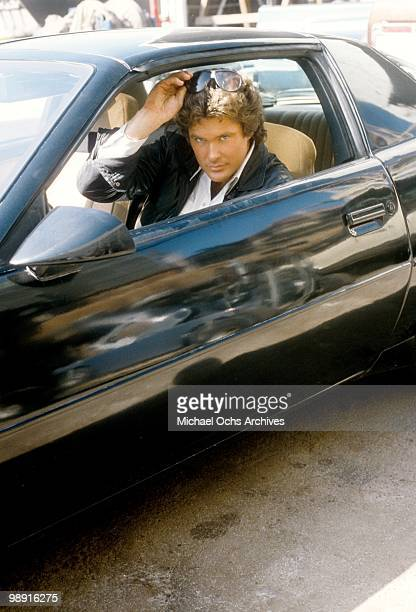 Actor and singer David Hasselhoff poses for a photo circa 1982 in Los Angeles California