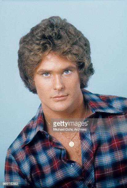 Actor and singer David Hasselhoff poses for a portrait on October 27 1976 in Los Angeles California