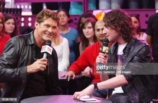 Actor and singer David Hasselhoff with host Alex Zane
