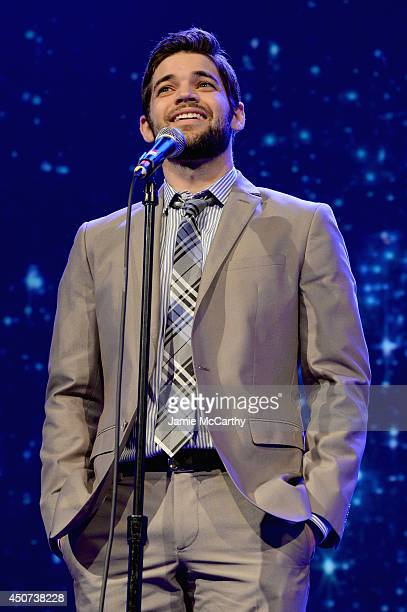 Actor and singer Jeremy Jordan performs onstage at the Trevor Project's 2014 'TrevorLIVE NY' Event at the Marriott Marquis Hotel on June 16 2014 in...