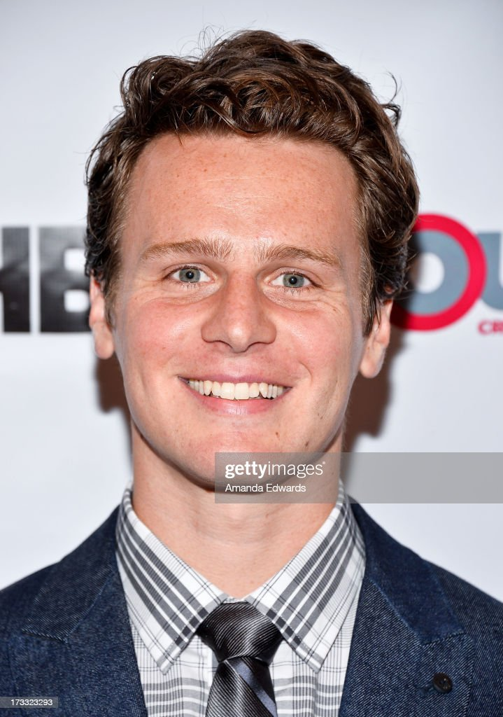 Actor and singer Jonathan Groff arrives at the 2013 Outfest Opening Night Gala of C.O.G. at The Orpheum Theatre on July 11, 2013 in Los Angeles, California.