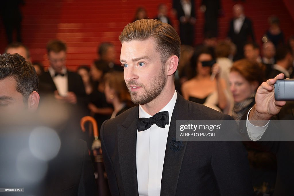 US actor and singer Justin Timberlake leaves on May 19, 2013 after attending the screening of the film 'Inside Llewyn Davis' presented in Competition at the 66th edition of the Cannes Film Festival in Cannes. Cannes, one of the world's top film festivals, opened on May 15 and will climax on May 26 with awards selected by a jury headed this year by Hollywood legend Steven Spielberg.