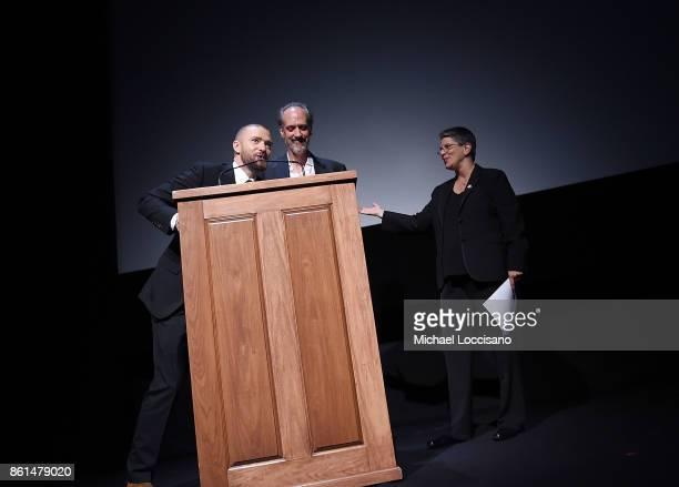 Actor and singer Justin Timberlake New York Film Festival Director Kent Jones and Film Comment Executive Director Lesli Klainberg introduce the...