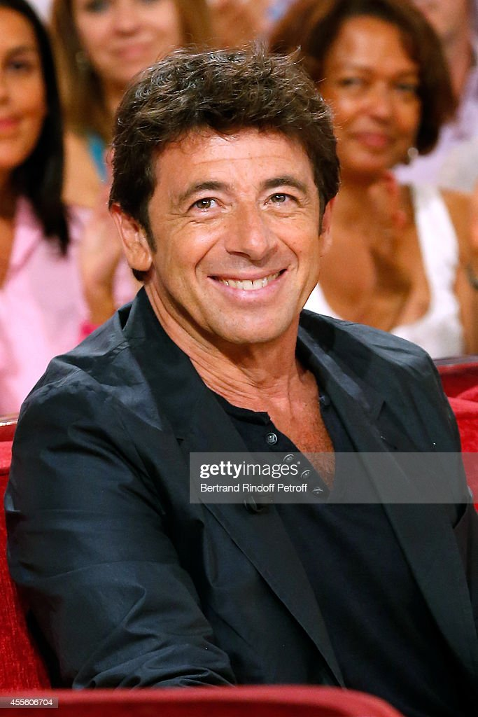 Actor and singer <a gi-track='captionPersonalityLinkClicked' href=/galleries/search?phrase=Patrick+Bruel&family=editorial&specificpeople=549816 ng-click='$event.stopPropagation()'>Patrick Bruel</a> presents the movie 'Tu veux ou tu veux pas' during the 'Vivement Dimanche' French TV Show at Pavillon Gabriel on September 17, 2014 in Paris, France.