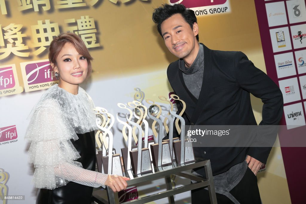 Raymond Lam And Joey Yung Attend Award Ceremony For IFPI's Best Selling Singers In Hong Kong