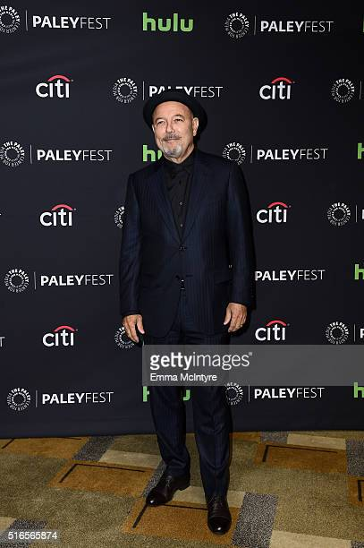 Actor and singer Ruben Blades arrives at The Paley Center For Media's 33rd Annual PaleyFest Los Angeles presentation of 'Fear The Walking Dead' at...