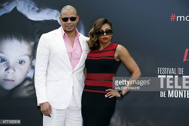 US actor and singer Terrence Howard and US actress Taraji PHenson pose during the 55th MonteCarlo Television Festival on June 14 in Monaco AFP PHOTO...