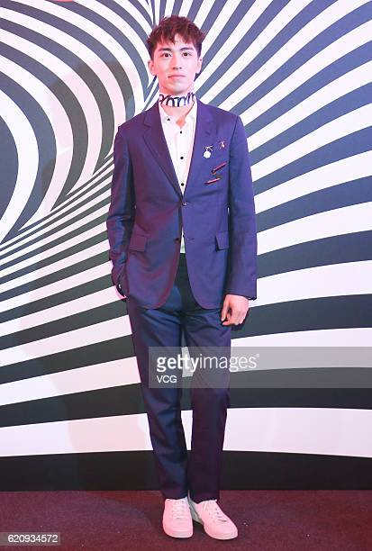 Actor and singer Xu Weizhou attends the 11th anniversary celebration of Vogue Magazine on November 3 2016 in Beijing China