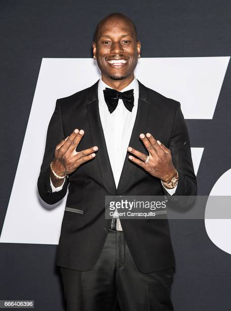 Actor and singersongwriter Tyrese Gibson attends 'The Fate Of The Furious' New York Premiere at Radio City Music Hall on April 8 2017 in New York City