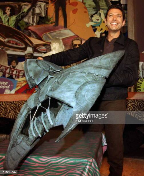 Actor and star of the hit movie 'Independence Day' Jeff Goldblum presents a 4foot scale model of an alien ship from the movie to Planet Hollywood 10...