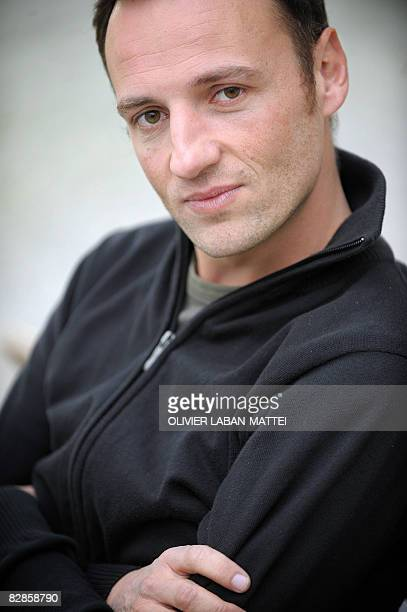 Actor and teacher Francois Begaudeau poses on September 17 in the schoolyard of the FrançoiseDolto school in the XXth disctrict in Paris one week...