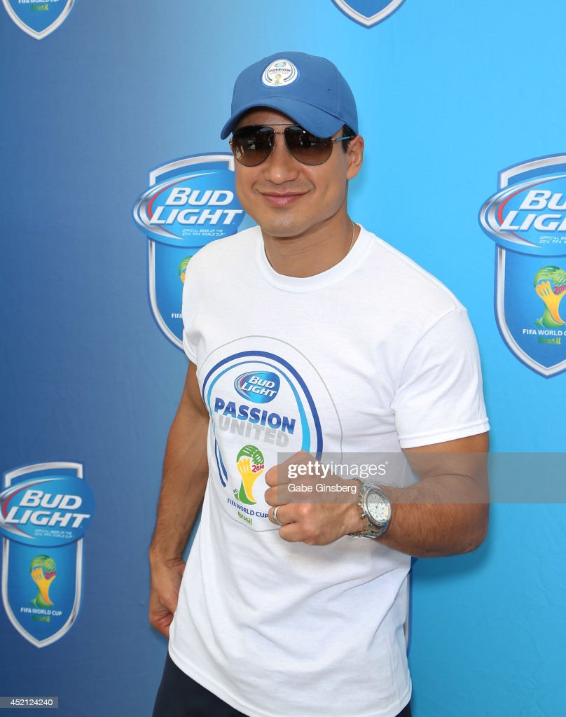 Actor and television personality <a gi-track='captionPersonalityLinkClicked' href=/galleries/search?phrase=Mario+Lopez&family=editorial&specificpeople=235992 ng-click='$event.stopPropagation()'>Mario Lopez</a> attends FIFA World Cup Finals Bud Light and Budweiser VIP Party at the Palms Casino Resort on July 13, 2014 in Las Vegas, Nevada.