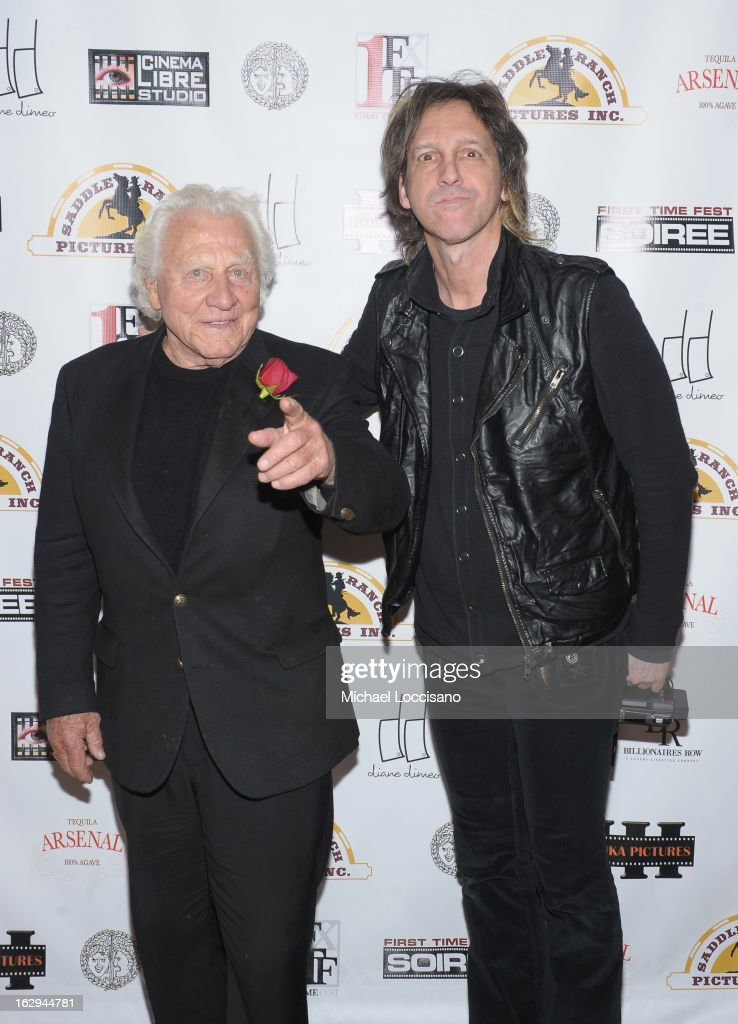 Actor and the voice of Boar's Head Joe Sirola (L) and photographer Mark Weiss attend the opening night party for the 2013 First Time Fest at The Players Club on March 1, 2013 in New York City.