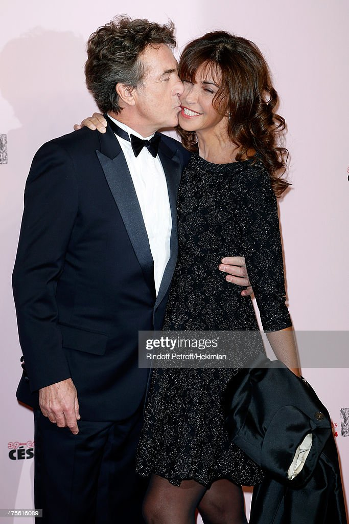 Actor and tonight's host <a gi-track='captionPersonalityLinkClicked' href=/galleries/search?phrase=Francois+Cluzet&family=editorial&specificpeople=626602 ng-click='$event.stopPropagation()'>Francois Cluzet</a> and his wife Narjiss A. Cluzet arrive for the 39th Cesar Film Awards 2014 at Theatre du Chatelet on February 28, 2014 in Paris, France.