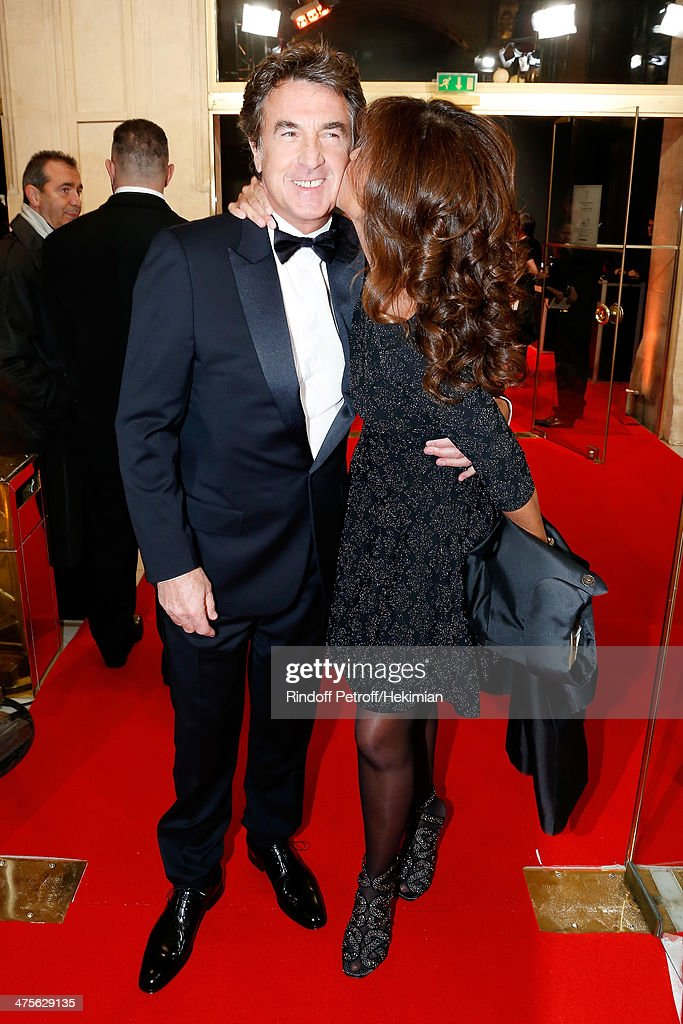 Actor and tonight's host Francois Cluzet and his wife Narjiss A. Cluzet arrive for the 39th Cesar Film Awards 2014 at Theatre du Chatelet on February 28, 2014 in Paris, France.