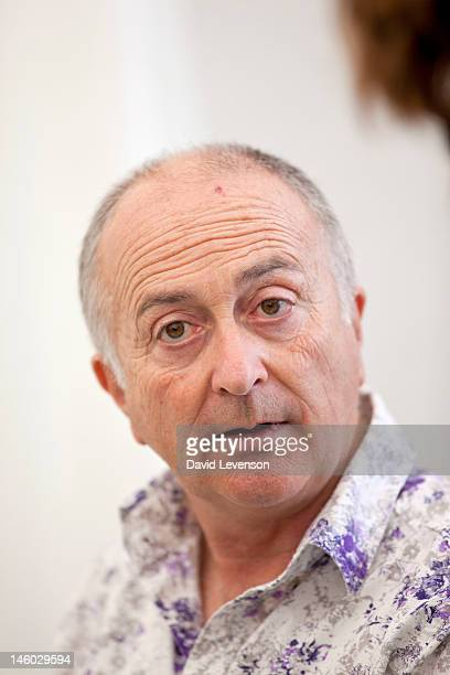 Actor and TV presenter Tony Robinson attends the Hay Festival on June 9 2012 in HayonWye Wales