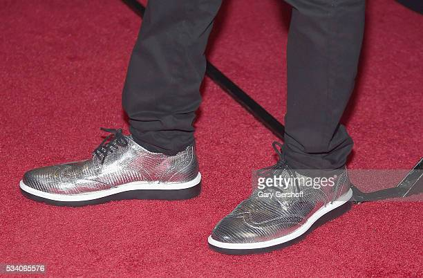 Actor and writer Chris Redd shoe detail attends the 'Popstar Never Stop Never Stopping' New York premiere at AMC Loews Lincoln Square 13 theater on...
