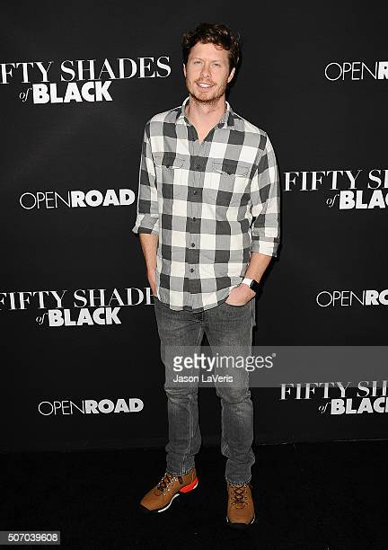 Actor Anders Holm attends the premiere of 'Fifty Shades of Black' at Regal Cinemas LA Live on January 26 2016 in Los Angeles California