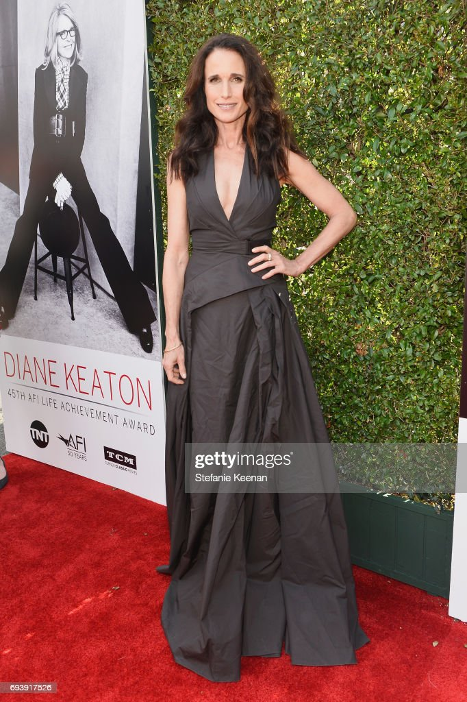 Actor Andie MacDowell arrives at the American Film Institute's 45th Life Achievement Award Gala Tribute to Diane Keaton at Dolby Theatre on June 8, 2017 in Hollywood, California. 26658_004