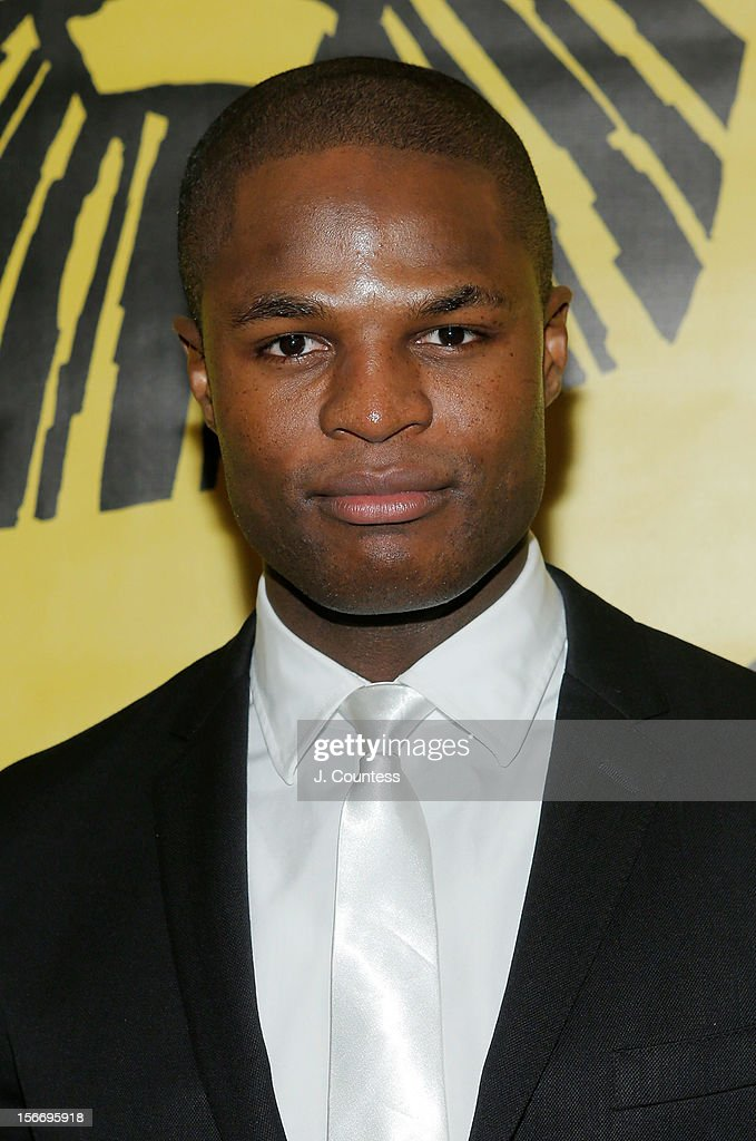 Actor Andile Gumbi attends the afterparty for 'The Lion King' Broadway 15th Anniversary Celebration at Minskoff Theatre on November 18, 2012 in New York City.