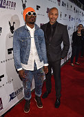 Actor Andre Benjamin and writer/director John Ridley arrive to the Los Angeles premiere of 'Jimi All Is By My Side' at ArcLight Cinemas on September...