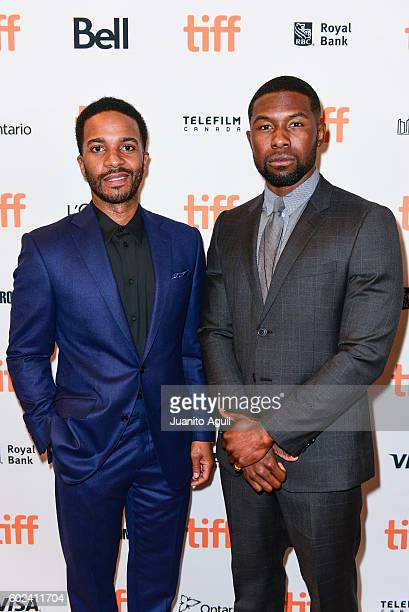 Actor Andre Holland and Actor Trevante Rhodes attends the premiere of 'Moonlight' during the 2016 Toronto International Film Festival at Winter...