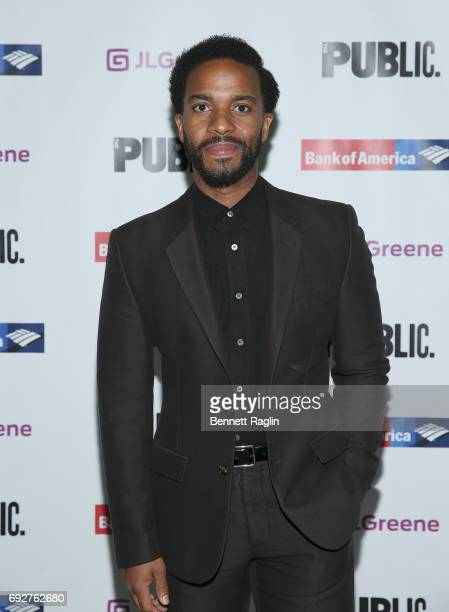 Actor Andre Holland attends the 2017 Public Theater Gala 'Hair to Hamilton' at Delacorte Theater on June 5 2017 in New York City