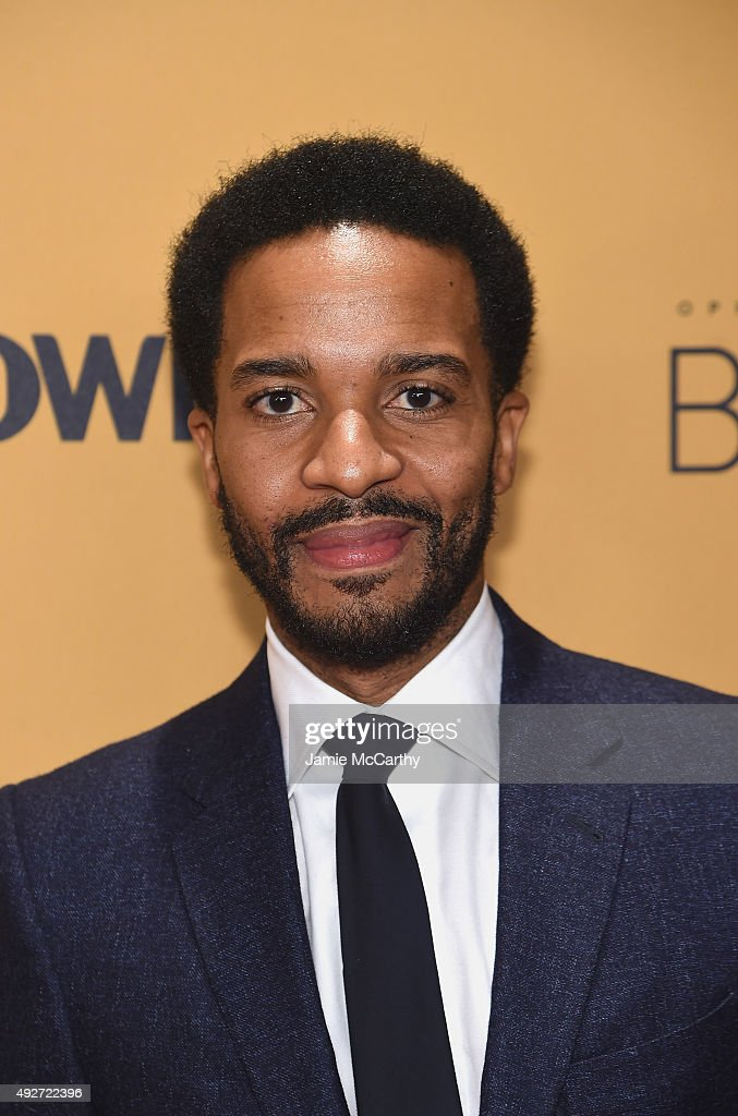 Actor Andre Holland attends the 'Belief' New York premiere at TheTimesCenter on October 14, 2015 in New York City.